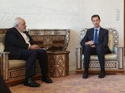 ظريف يبحث مع الرئيس الاسد القضايا ذات الاهتمام المشترك/صور