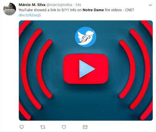 اشتباه لپی یوتیوب درباره آتشسوزی در کلیسای نوتردام پاریس