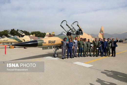رژه تمرینی جنگنده بمبافکنهای نیروی هوایی ارتش