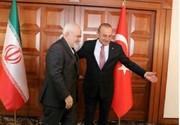 تصاویر | ظریف با همتای ترکیهای خود دیدار کرد