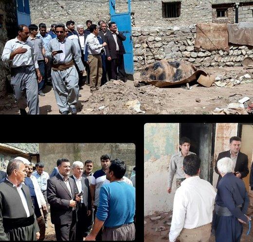 پیگیری مشکلات مردم روستای تنگ هفت با حضور فرماندار خرمآباد و خیرین روانسری