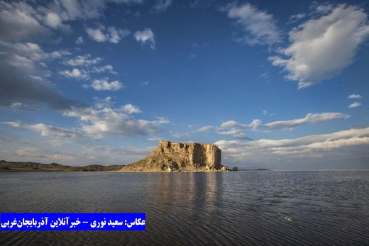 خروش دوباره دریاچه ارومیه در آخرین روزهای فروردین