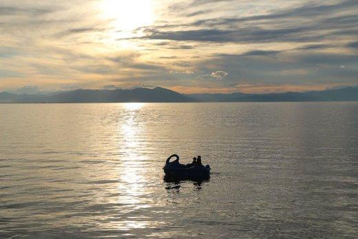 کاهش حجم آب دریاچه ارومیه به کمتر از ۵میلیارد متر مکعب به علت گرمای هوا و تبخیر