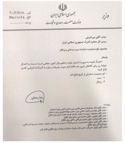 صادرات یب و پرتقال آزاد شد