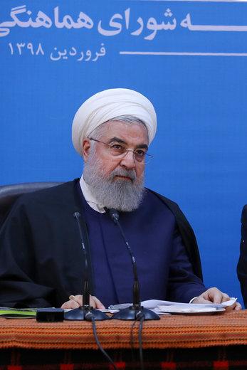 جلسه شورای هماهنگی مدیریت بحران استان لرستان با حضور روحانی