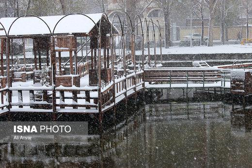 بارش برف بهاری در اردبیل