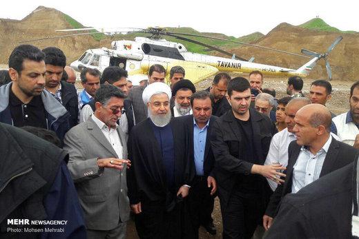 حضور رئیسجمهور در مناطق سیلزده پلدختر