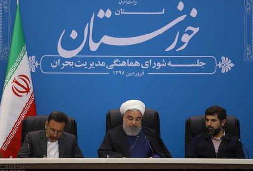 روحانی: تبعیت دستگاهها از وزیر کشور به عنوان فرمانده قرارگاه بازسازی، تاکید رهبر معظم انقلاب است