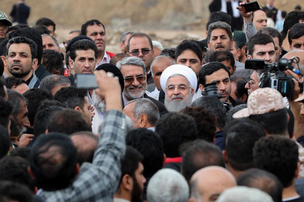 تصاویر   بازدید روحانی از مناطق سیلزده لرستان