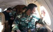 هلیکوپتر فرمانده کل ارتش در اختیار مصدوم زلزله سرپلذهاب