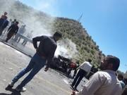 راننده پراید بعد از تصادف با نیسان زندهزنده سوخت+عکس