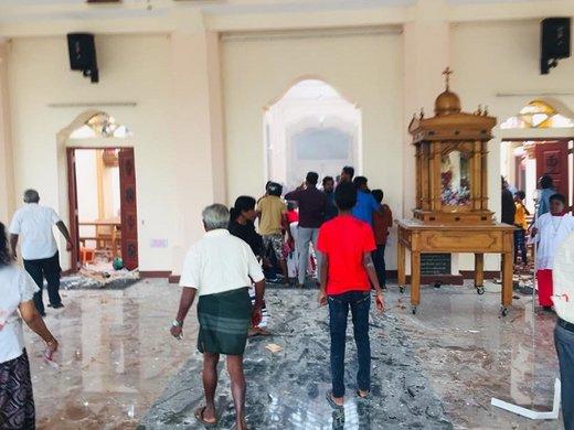 وقوع انفجار در دو کلیسا و دو هتل در سریلانکا