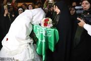 تصاویر   عروسی زوج خوزستانی در اردوگاه اسکان موقت