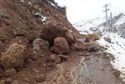 ریزش کوه و برف جاده آستارا-اردبیل را بست