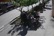 فیلم   لحظه قاپیدن موبایل یک خبرنگار در کریمخان تهران!