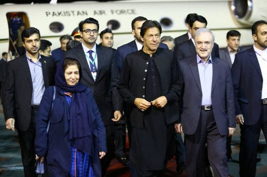 Pak PM Imran Khan arrives in Tehran