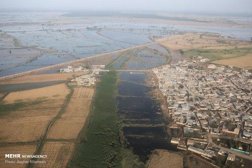 مناطق درگیر سیل در خوزستان
