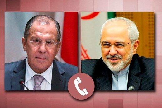 ظریف و لاوروف تلفنی گفتوگو کردند