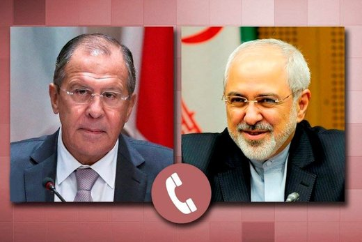 Zarif, Lavrov discuss Syria on phone