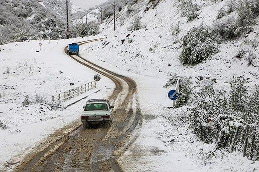 بارش برف در اشکورات گیلان