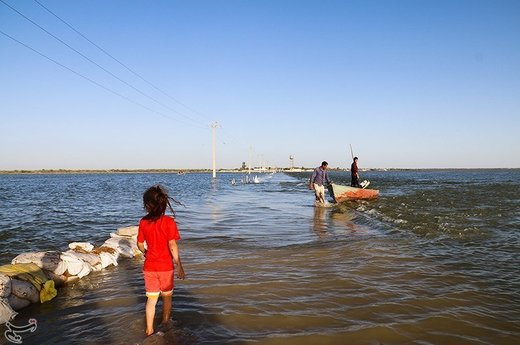 سیلاب در روستای حدبه شادگان