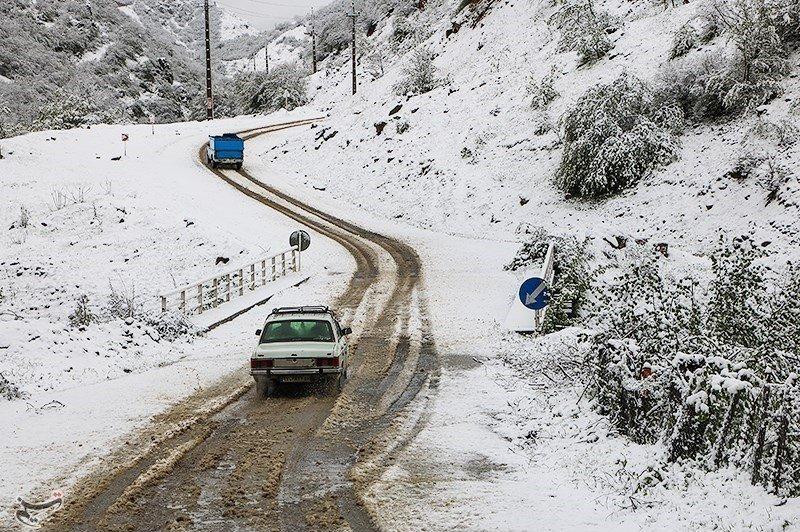 تصاویر   برف بهاری به گیلان رسید