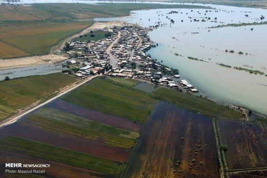 رهاسازی سیلاب عظیم در بیابانهای خوزستان