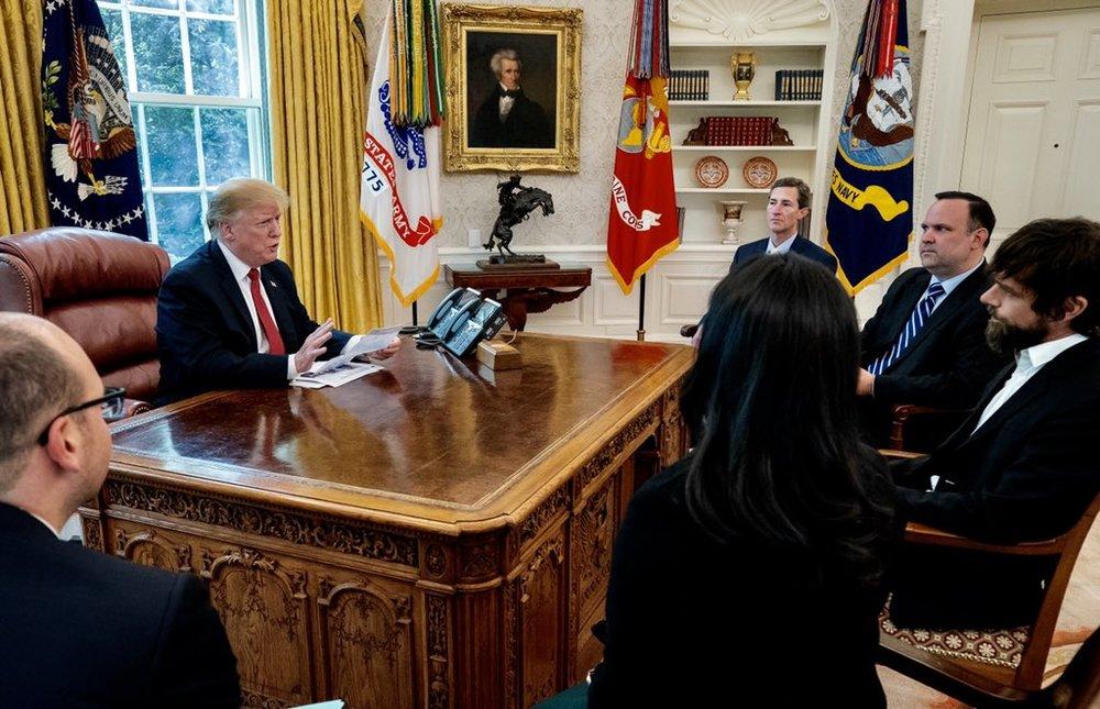 مدیر توئیتر به ملاقات ترامپ در کاخ سفید رفت