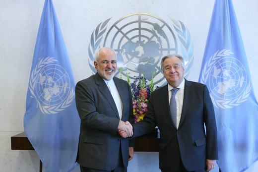 FM Zarif confers with UN Sec-Gen