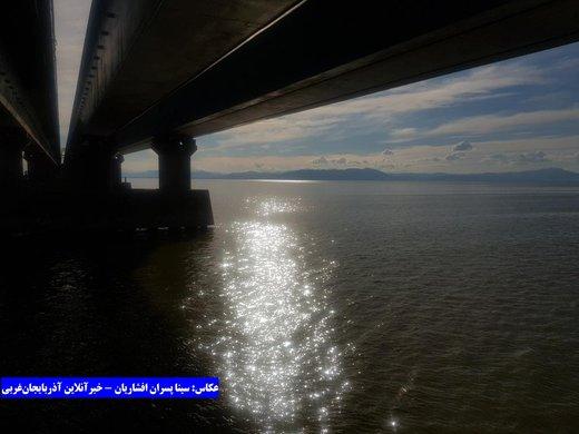 غروب دلانگیز دریاچه ارومیه