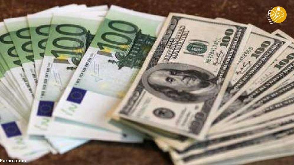قیمت دلار و قیمت یورو در بازار امروز پنجشنبه ۵ اردیبهشت