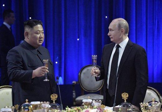 دیدار رسمی ولادیمیر پوتین، رئیس جمهوری روسیه با کیم جونگ اون، رهبر کره شمالی در شهر ولادیوستوک روسیه