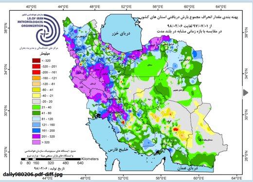 ٰرشد ۹۱ میلیمتری بارشها در ایران طی ۶ ماه/ ترسال شدیم؟ قطعا نه!
