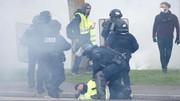 جلیقهزردها اطراف مقر پارلمان اروپا را بههم ریختند