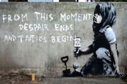 اثری دیگر از بنکسی روی دیواری در لندن نقش بست