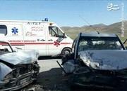 عکس   تصادف مرگبار پراید با وانت در اصفهان