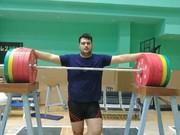 تمرینات ملیپوش وزنهبرداری در پارکینگ!/عکس
