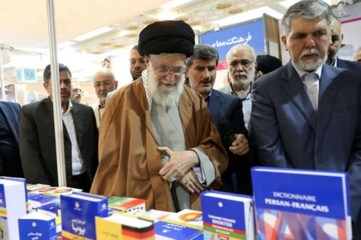 Supreme Leader tours Tehran Book Fair