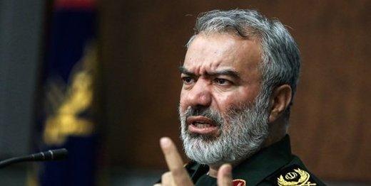 سردار فدوی اطمینان خاطر داد: ناوهای آمریکایی به طور کامل تحت کنترل ارتش و سپاه هستند/ صحبت کردن آنها به زبان فارسی نشانه اقتدار ایران است