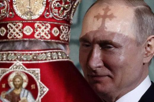 فیلم | حضور پوتین در مراسم عید پاک مسیحیان ارتدوکس