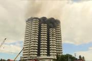 فیلم | ساختمان ۲۱ طبقه در فیلیپین طعمه حریق شد