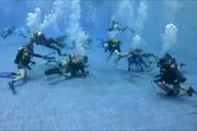 فیلم   مسابقه عجیب هاکی زیر آب در روسیه