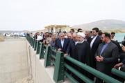 افتتاح یک پروژه آبی در کرمانشاه با حضور روحانی