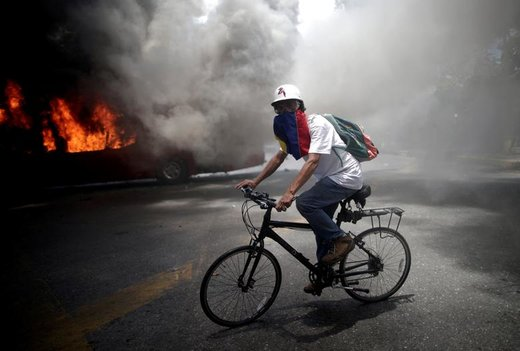 صحنه درگیریهای کودتا در ونزوئلا