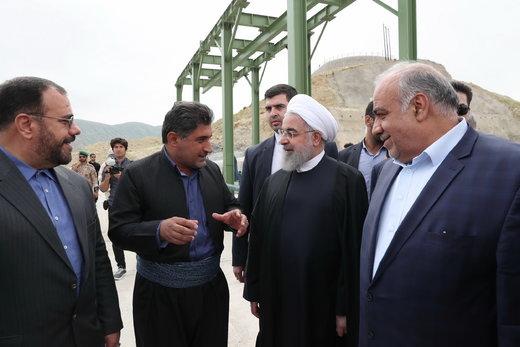 افتتاح سد شهدای ازگله در شهرستان ثلاث باباجانی