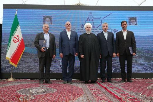 بهرهبرداری همزمان از چند طرح عمرانی، آبی و نیروگاهی توسط رئیسجمهور در استان کرمانشاه