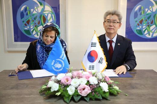 کره از فعالیتهای برنامه جهانی غذا در ایران حمایت میکند