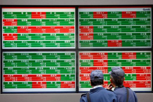 بازارهای بورس آسیایی ناامید شدند/ درجا زدن سهام و نرخ بهره