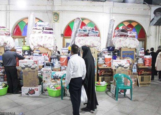 تحویل 12 سری جهیزیه به زوج های سیلزده پلدختری در بروجرد