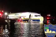 فیلم | حادثه برای بوئینگ ۷۳۷ در فلوریدا